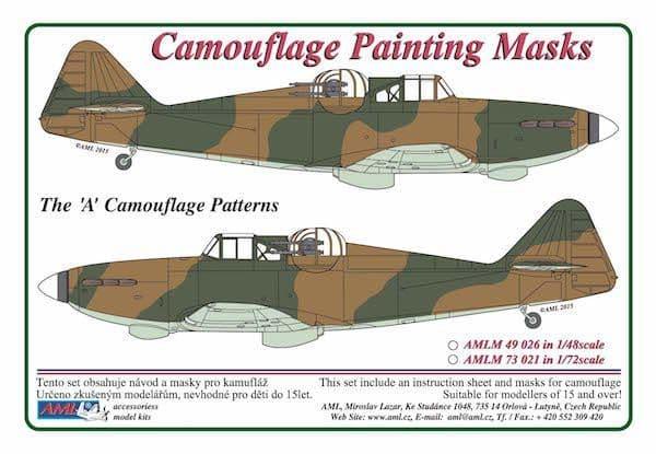 """AML 1/48 Boulton-Paul Defiant Mk.I """"A"""" Patterns Camouflage Paint Masks # M49026"""