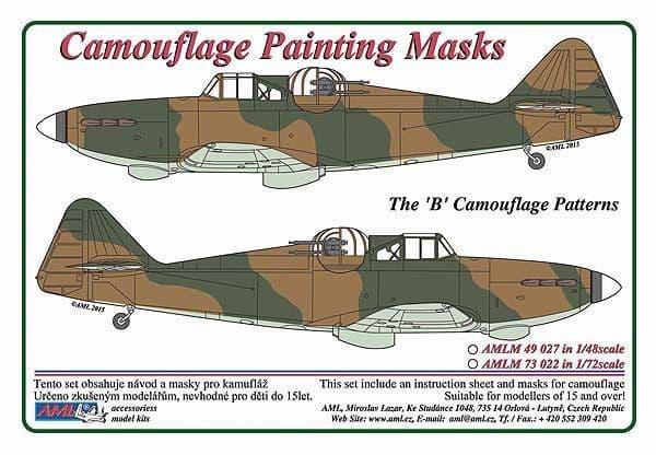 "AML 1/48 Boulton-Paul Defiant Mk.I ""B"" Patterns Camouflage Paint Masks # M49027"