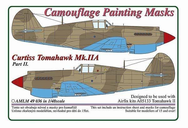 AML 1/48 Curtiss Tomahawk Mk.IIA Part II Camouflage Painting Masks # M4936
