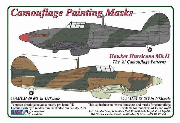 "AML 1/48 Hawker Hurricane Mk.II The ""A"" Camouflage Pattern Paint Mask # M4931"