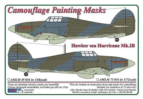 AML 1/48 Hawker Sea Hurricane Mk.IB Camouflage Painting Masks # M4934