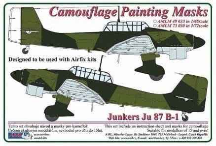 AML 1/48 Junkers Ju-87B-1 'Stuka' Camouflage Painting Mask # M49033