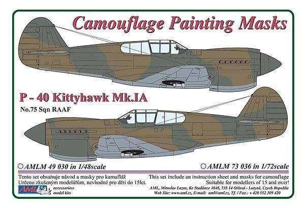 AML 1/72 Curtiss P-40 Kittyhawk Mk.Ia RAAF Camouflage Painting Mask # M7336