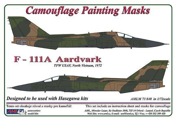 AML 1/72 General-Dynamics F-111A Aardvark TFW USAF, North Vietnam 1972, Camouflage Painting Masks #