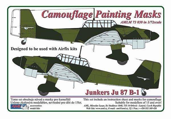 AML 1/72 Junkers Ju-87B-1 'Stuka' Camouflage Painting Masks # M73030