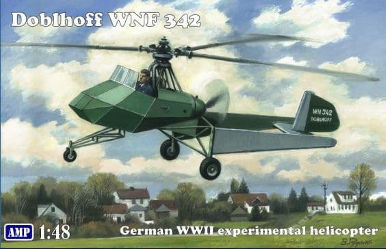 AMP 1/48 Doblhoff WNF 342, WWII German Experimental Helicopter # 48008