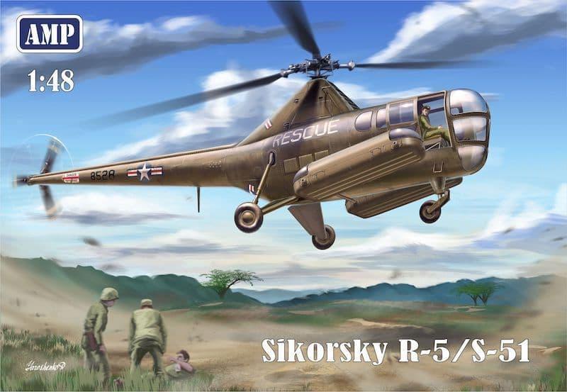 AMP 1/48 Sikorsky R-5/S-51 USAF Rescue # 48002