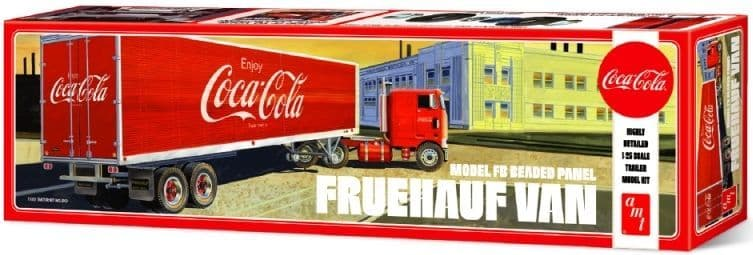 AMT 1/25 'Coca-Cola' Fruehauf Beaded Van Semi Trailer # 1109