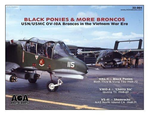 AOA Decals 1/32 Black Ponies & More Broncos # 32004