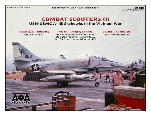 AOA Decals 1/32 Combat Scooters (1) # 32010