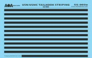 AOA Decals 1/32 USN/USMC Tailhook Striping # SS02A