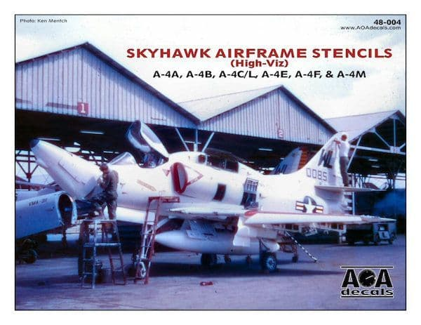 AOA Decals 1/48 Douglas Skyhawk Airframe Stencils (Hi-Viz) # 48004