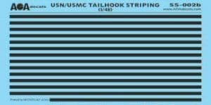AOA Decals 1/48 USN/USMC Tailhook Striping # SS02B