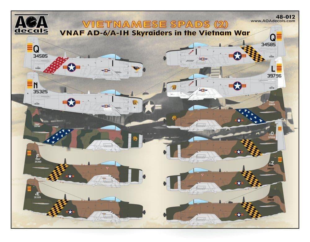AOA Decals 1/48 Vietnamese Spads (2) # 48012