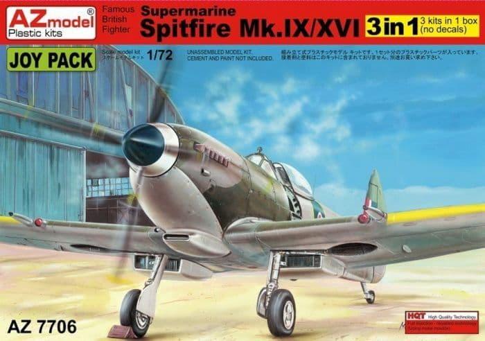 AZ Models 1/72 Supermarine Spitfire Mk.IX/XVI (3 in 1) # 7706