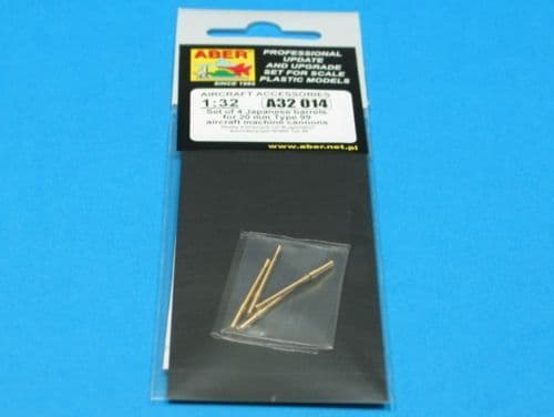 Aber 1/32 Set of 4 Japanese Barrels for 20mm Type 99 Aircraft Machine Cannons # 32014