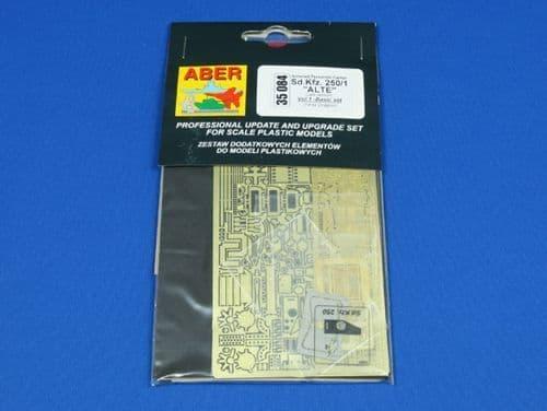Aber 1/35 German Sd.Kfz.250/1 Alte Basic Detailing Set # 35084
