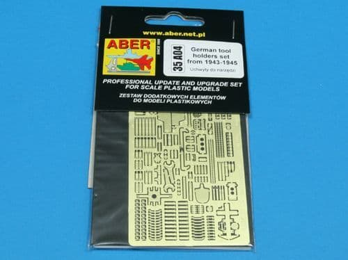 Aber 1/35 German Tool Holders from 1943-1945 Detailing Set # 35A04