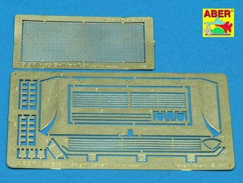 Aber 1/35 Grille Covers for Soviet T-34/76 T-34/86 Detailing Set # 35G08