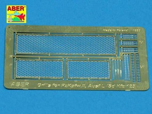 Aber 1/35 Grilles for Pz.Kpfw.II 'Luchs' German Sd.Kfz.123 Detailing Set # 35G09