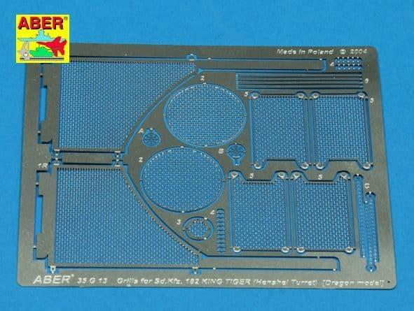 Aber 1/35 Grilles for Pz.Kpfw.VI King Tiger Sd.Kfz.182 (Henshel Turret) Detailing Set # 35G13