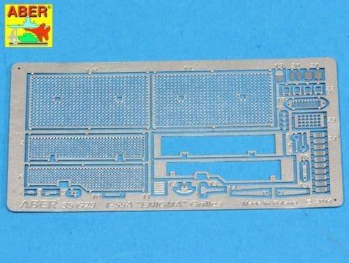 Aber 1/35 Grilles for Soviet Tank T-55A & ENIGMA Detailing Set # 35G29