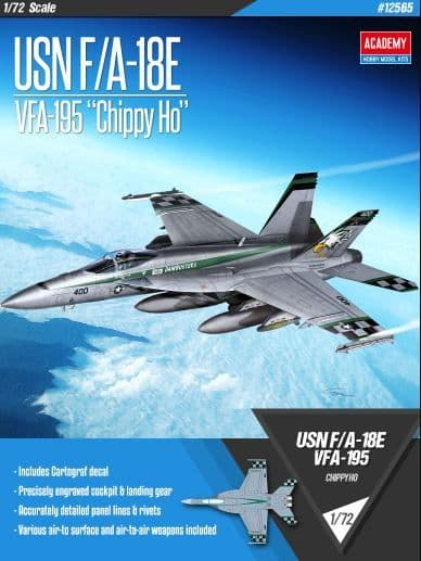 "Academy 1/72 USN F/A-18E VFA-195 ""Chippy Ho"" # 12565"
