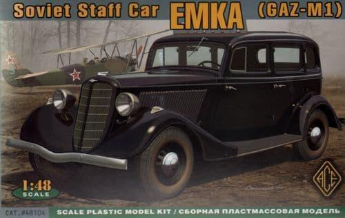 Ace 1/48 WWII Soviet car Emka (GAZ-M1) # 48104
