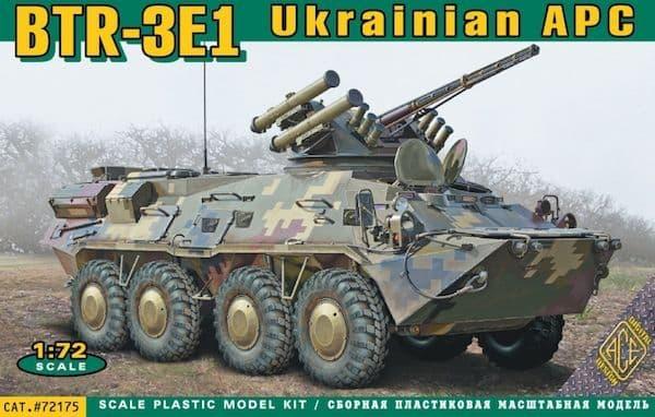 Ace 1/72 BTR-3E1 Ukrainian Armored Personnel Carrier # 72175