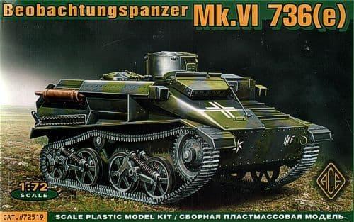 Ace 1/72 Beobachtungspanzer Mk.VI 736(e) # 72519