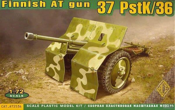 Ace 1/72 Finnish Anti-Tank Gun 37 PstK/36 # 72534
