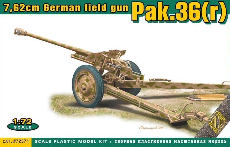 Ace 1/72 Pak.36(r) 7.62cm German Field Gun # 72571