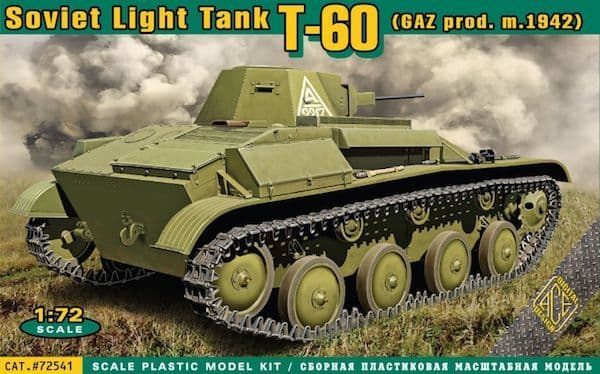 Ace 1/72 Russian T-60 Light Tank (GAZ prod. m.1942) # 72541