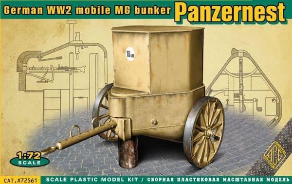 Ace 1/72 WWII German Mobile Machine Gun Bunker Panzernest # 72561