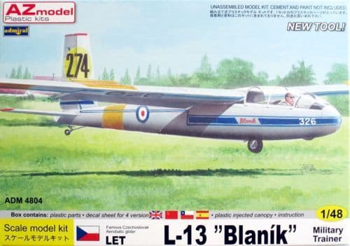 Admiral 1/48 LET L-13 Blanik Military Trainer # 4804
