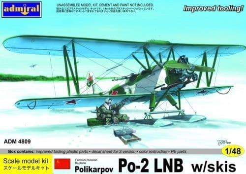 Admiral 1/48 Polikarpov Po-2LNB w/Skis # 4809