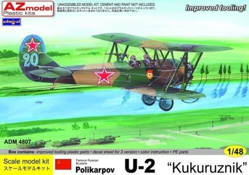 """Admiral 1/48 Polikarpov U-2 """"Kukuruznik"""" (ex Gavia) # 4807"""