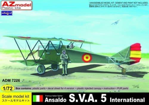 Admiral 1/72 Ansaldo SVA.5 International # 7226