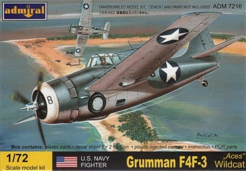 Admiral 1/72 F4F-3 Wildcat Aces # 7216