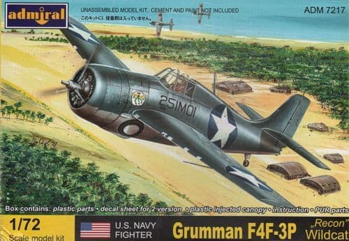 Admiral 1/72 F4F-3P Recon Wildcat # 7217