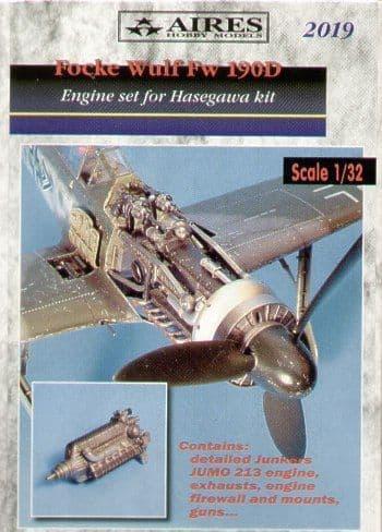 Aires 1/32  Focke Wulf Fw190D Engine Set # 2019