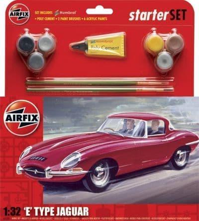 Airfix 1/32 E Type Jaguar Starter Set # 55200