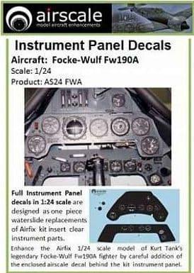 Airscale 1/24 Focke-Wulf Fw-190A Full Instrument Panel # AS24FWA