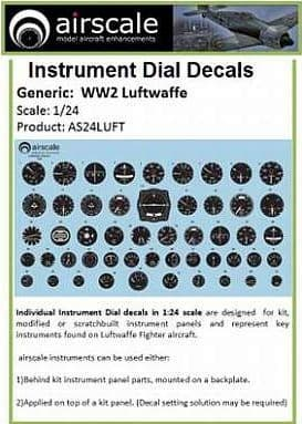 Airscale 1/24 Luftwaffe/German WWII Generic Instruments # AS24LUFT