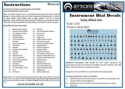 Airscale 1/32 Early Allied Jets # AS32JETS