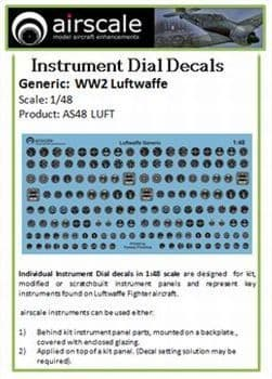 Airscale 1/48 Luftwaffe/German Instruments # AS48LUFT