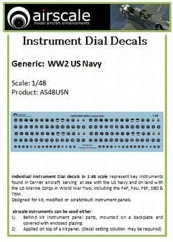 Airscale 1/48 U.S. Navy Instruments # AS48USN