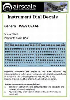 Airscale 1/48 USAAF Instruments # AS48USA