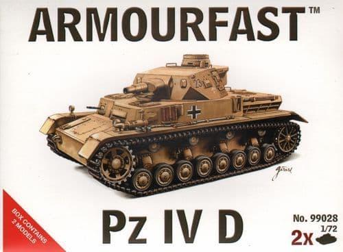 Armourfast 1/72 Edit Pz.KEdit Pfw. IV Ausf. D x 2 kits # 99028