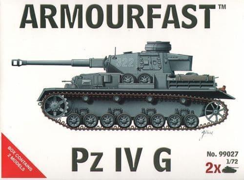 Armourfast 1/72 Edit Pz.KEdit Pfw. IV Ausf. G x 2 kits # 99027